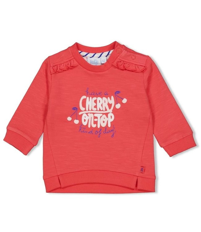 Feetje-baby Sweater - Cherry Sweetness - Rood