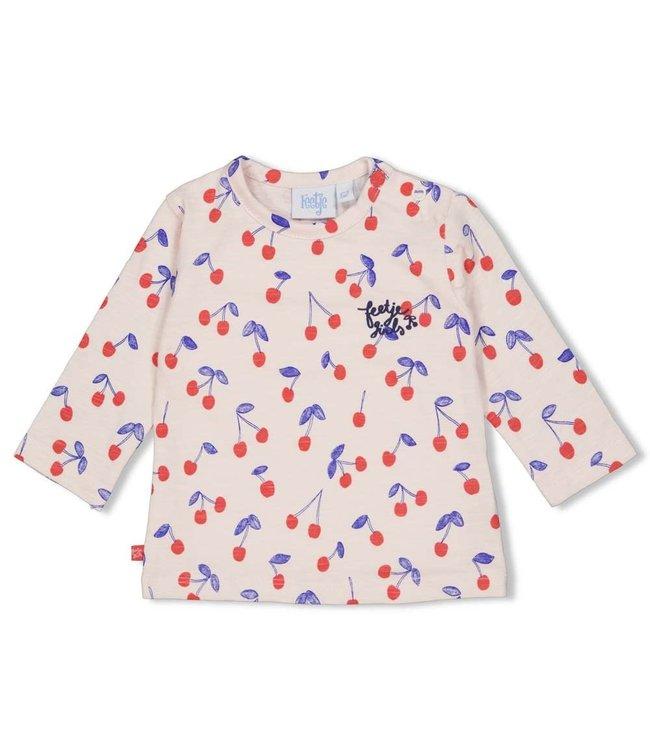 Feetje-baby Longsleeve AOP - Cherry Sweetness - Roze