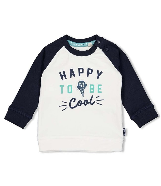 Feetje-baby Sweater Happy - Team Icecream - Wit