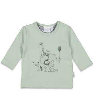 Feetje-baby Longsleeve - Animal Friends - Mintgroen