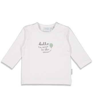 Feetje-baby Longsleeve Hello - Animal Friends - Wit