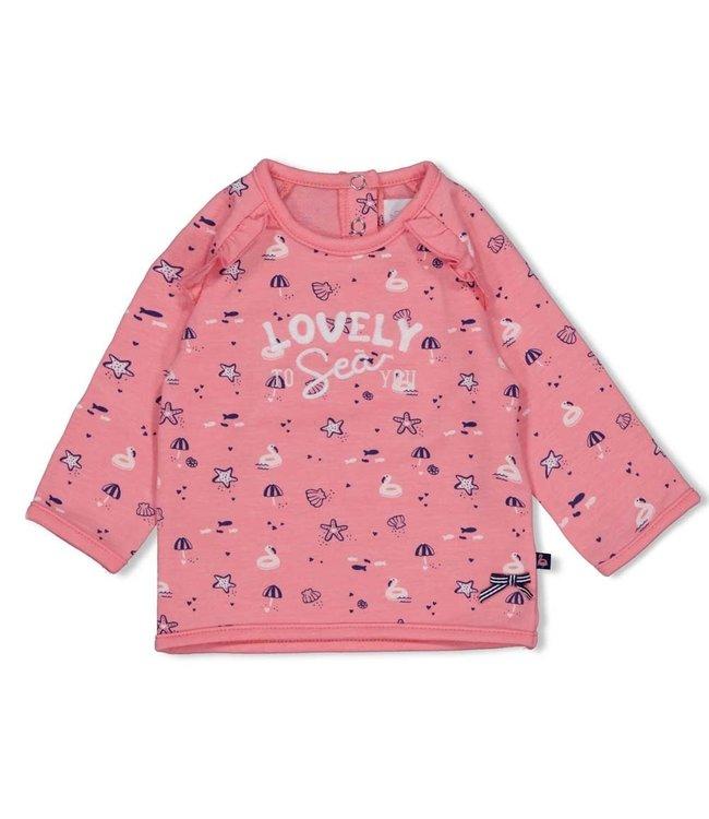 Feetje-baby Sweater - Seaside Kisses - Roze