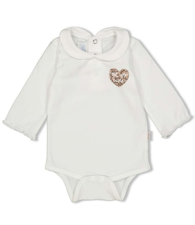Feetje-baby Romper - Panther Cutie - Offwhite