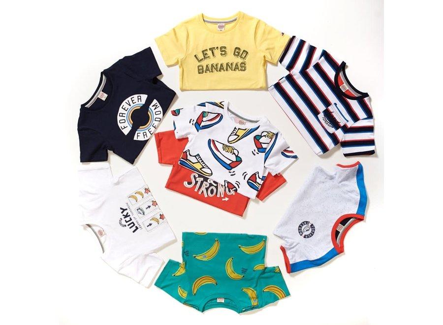 T-shirt Lucky - Playground - Wit