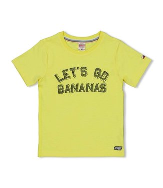 Sturdy T-shirt Let's Go - Playground - Geel