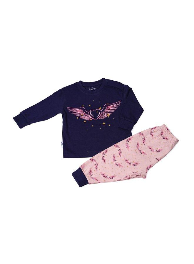 Pyjama navy love heart