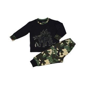 Frogs and Dogs Pyjama black dino