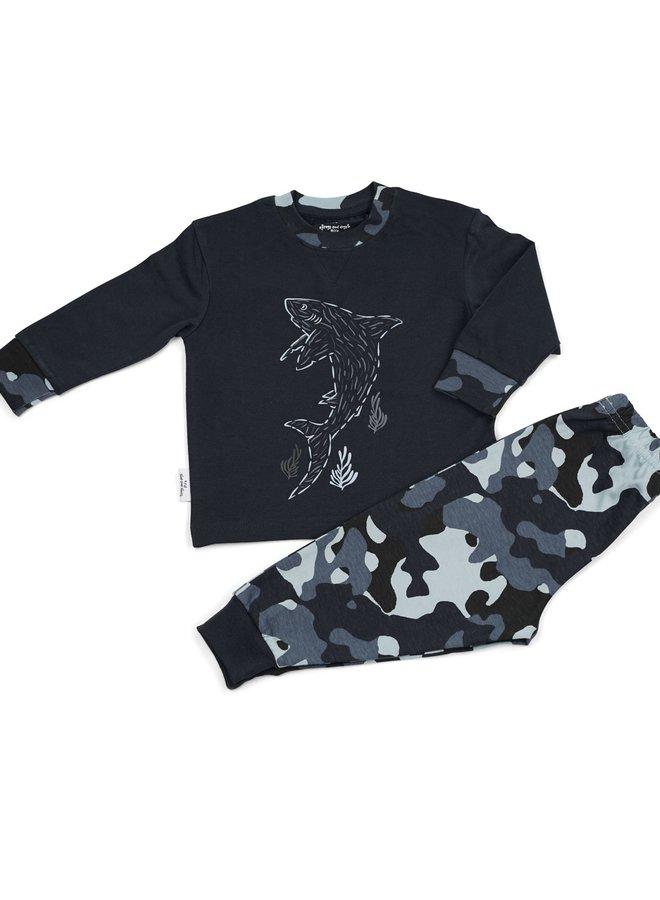 Pyjama navy shark