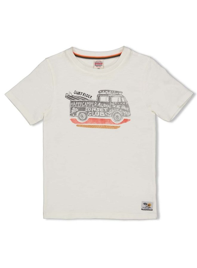 T-shirt - Happy Camper - Offwhite