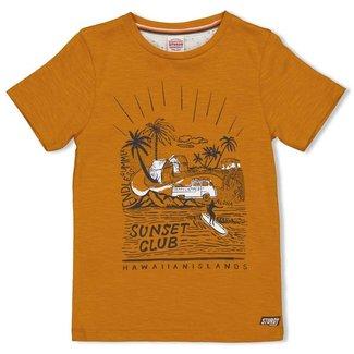 Sturdy T-shirt - Happy Camper - Okergeel