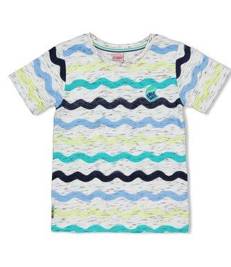 Sturdy T-shirt AOP - Smile & Wave - Wit
