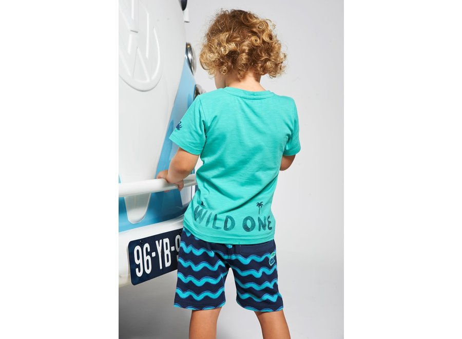 T-shirt Wild One - Smile & Wave - Mint