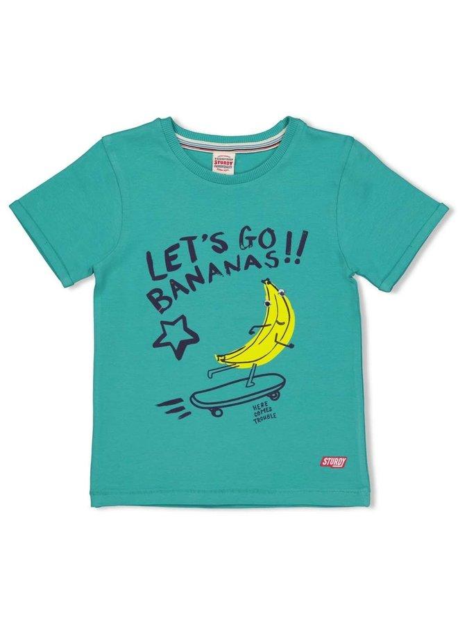 T-shirt Bananas - Playground - Groen