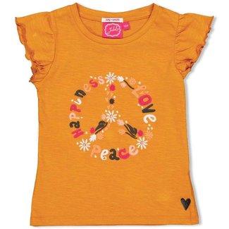 Jubel T-shirt - Whoopsie Daisy - Okergeel