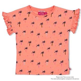 Jubel T-shirt AOP - Whoopsie Daisy - Neon Koraal