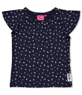 Jubel T-shirt AOP - Sweet Gelato - Marine