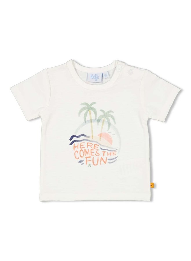 T-shirt - Here Comes The Fun - Wit