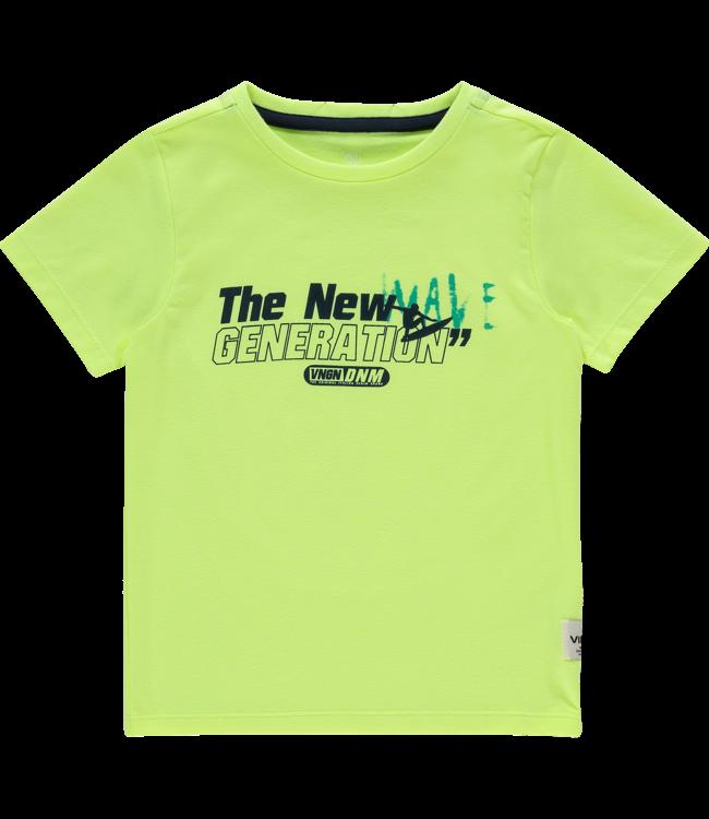 Vingino T-shirt Nero - Fresh Neon Yellow