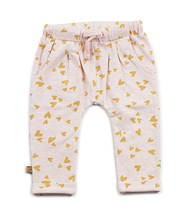 "Frogs and Dogs F&D NB Pleated Pants "" Hearts """