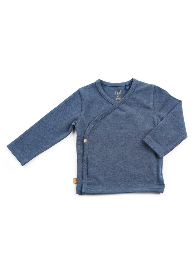 F&D NB Wrap Shirt Navy Melange