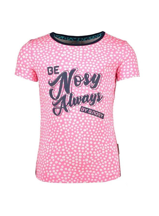 Shirt roze stip