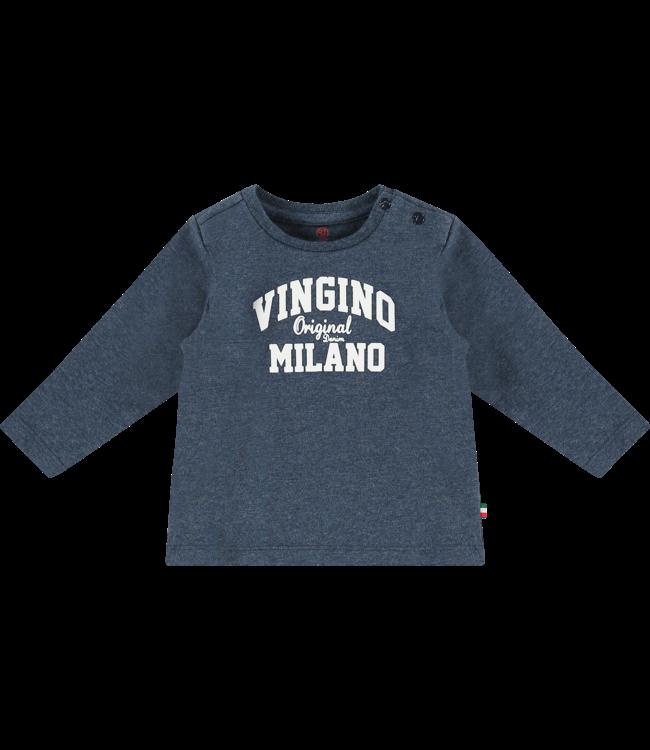 Vingino T-shirt l/m Jay baby - Dark Blue Melange