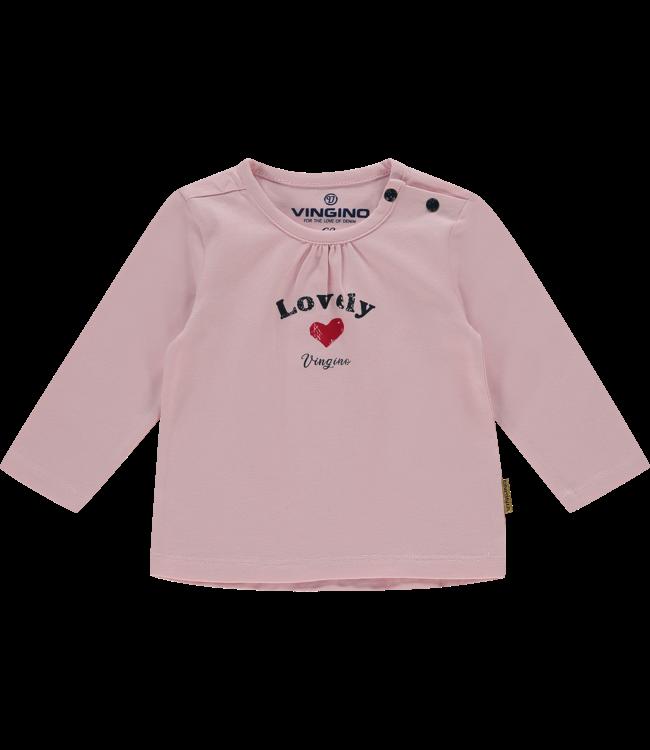 Vingino T-shirt l/m Judith Baby - Light Pink