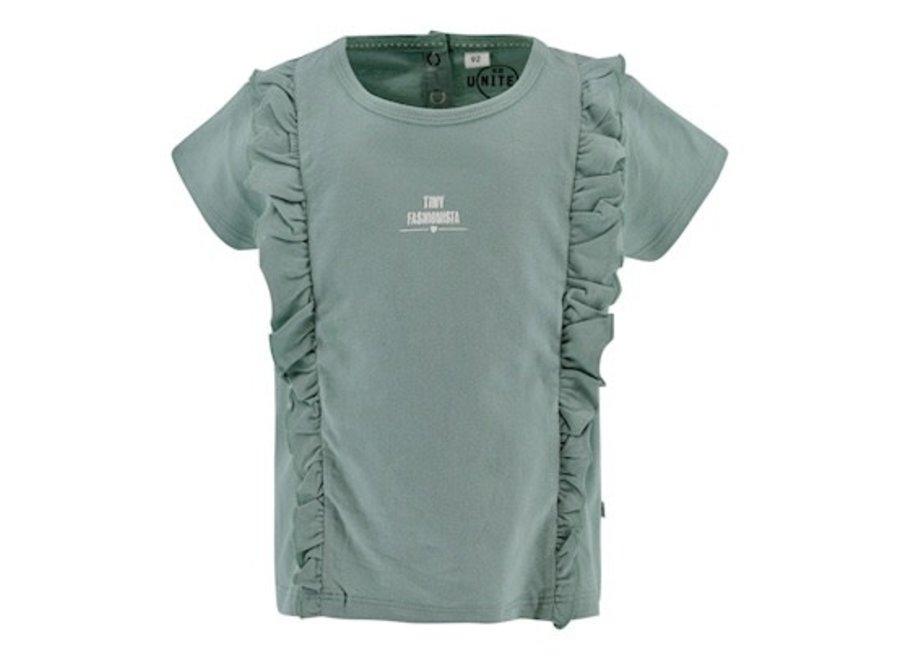 T-shirt Bloem - Soft Mint