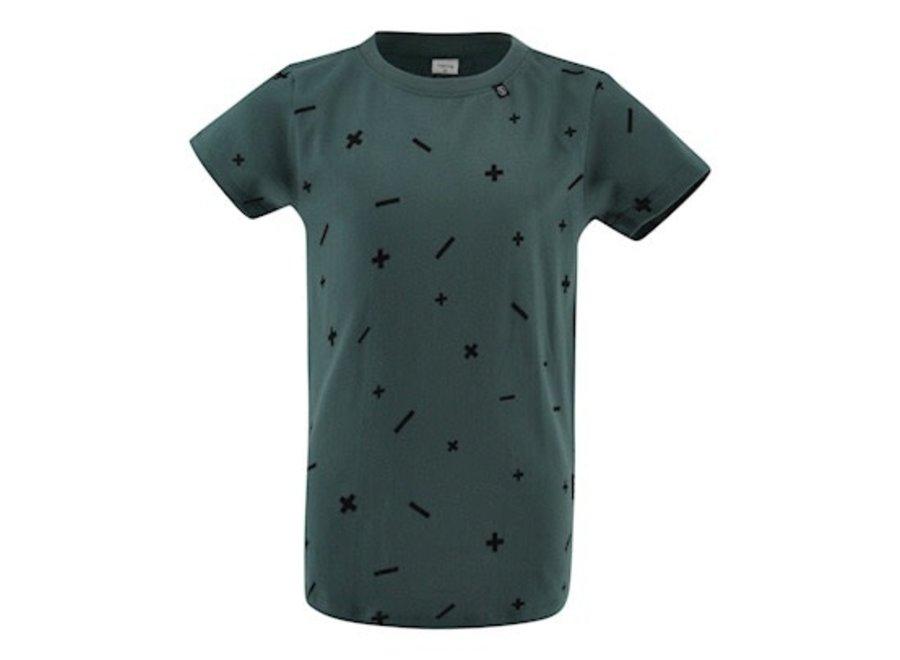 T-shirt Sibert - Mint / Zwart