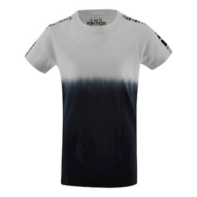 Kiddo T-shirt Wart - Zwart/Wit/DipDye