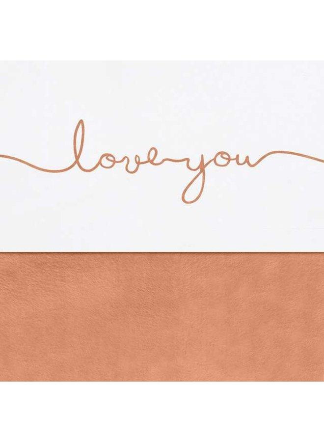 Laken Ledikant 120x150cm - Love you - 2 kleuren