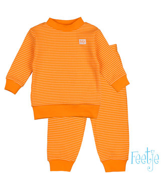 Feetje-baby Wafelpyjama oranje baby