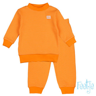 Feetje-baby Wafelpyjama oranje kids