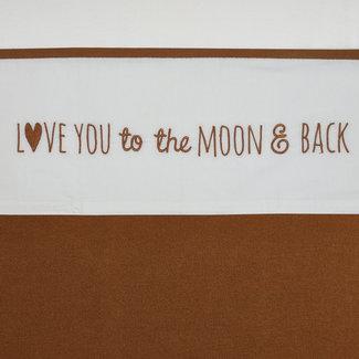 Meyco LEDIKANTLAKEN LOVE YOU TO THE MOON & BACK - CAMEL