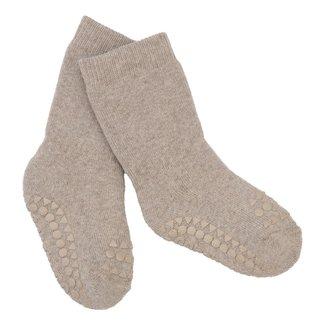Go baby go Antraciet sokken sand
