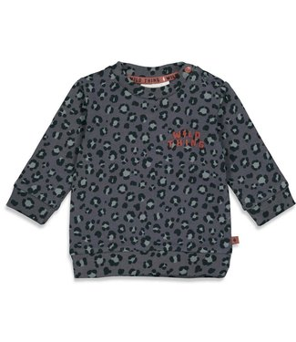 Feetje-baby Sweater AOP - Wild Thing - Antraciet