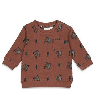 Feetje-baby Sweater AOP - Wild Thing - Bruin