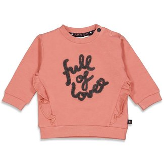 Feetje-baby Sweater - Full Of Love - Terra Pink