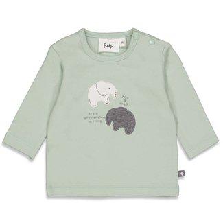 Feetje-baby Longsleeve You & Me - Hi Elephant - Mint