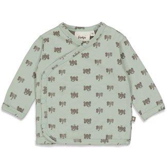 Feetje-baby Overslagshirt - Hi Elephant - Mint