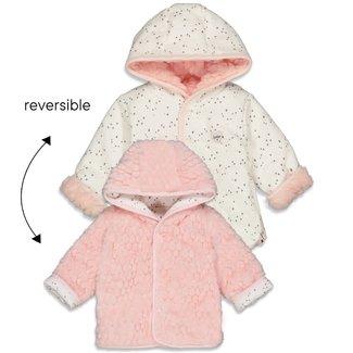 Feetje-baby Omkeerbaar jasje met capuchon - Cutest Thing Ever - Roze