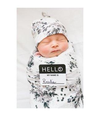 Lulujo Lulujo Hello World Swaddle & Hat