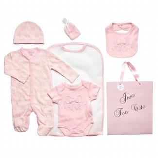 """Soft Touch Cadeau set roze """" strik """""""