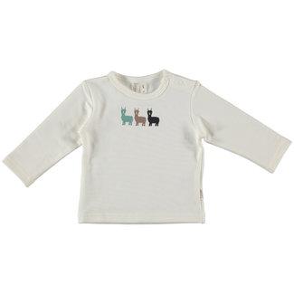 """B.e.s.s Shirt l.sl Alpaca White """" organic """""""