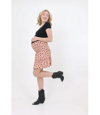 Love2Wait Mini Skirt Ruffles Dots - Dusty Rose