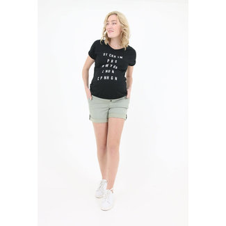 Love2Wait Shirt Elastic Text - Black