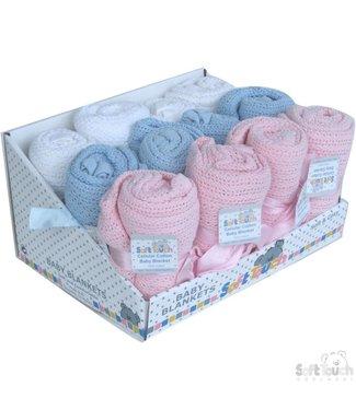 Soft Touch Baby blanket 70x90 cm 3 kleuren
