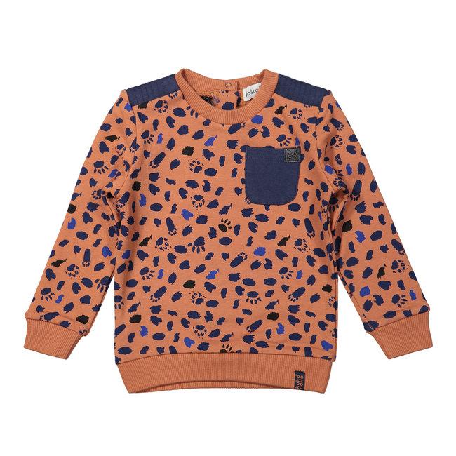 Koko Noko Sweater - Camel+Navy
