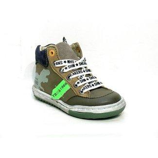 Shoesme Shoesme sneakers Army green met dino
