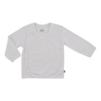 Born by Kiddo Overslag Shirt Stripes - White/Soft Pink